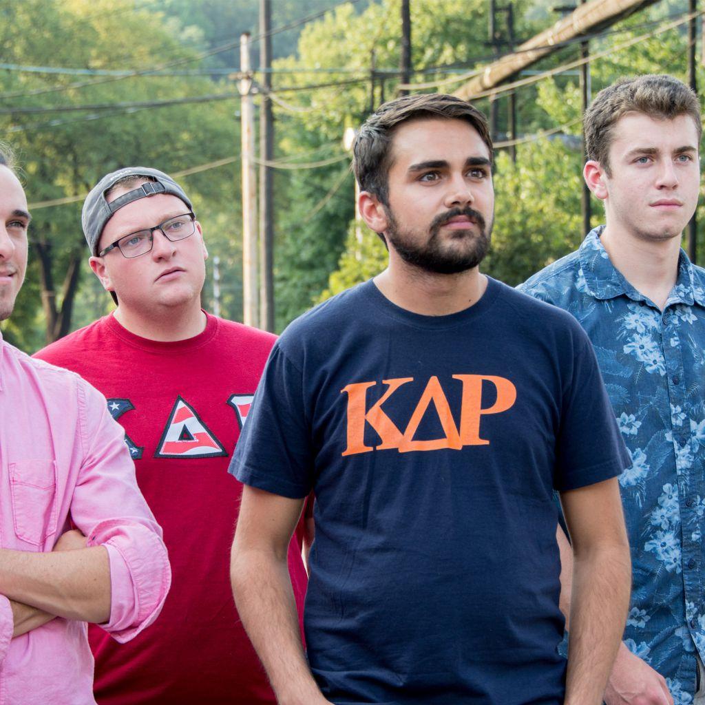 Kappa Delta Rho brothers outside